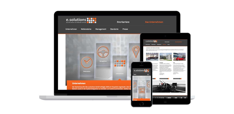 RELAUNCH WEBSITE - e.solutions GmbH, Ingolstadt Beispielbild 10_1