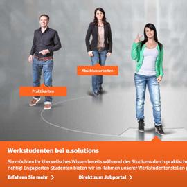 RELAUNCH WEBSITE - e.solutions GmbH, Ingolstadt Beispielbild klein