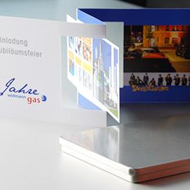 EINLADUNGSBOX JUBILÄUM - Widmann Gase GmbH, Elchingen Beispielbild klein