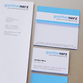 CORPORATE DESIGN - Gunther Merz Unternehmensberatung, Ulm Beispielbild klein