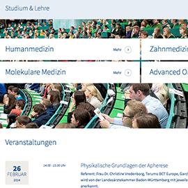 NEUE WEBSITE - Medizinische Fakultät der Universität Ulm Beispielbild klein