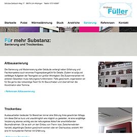 RESPONSIVE WEBSITE - ANDREAS FÜLLER STUCKATEUR GMBH, ULM Beispielbild klein