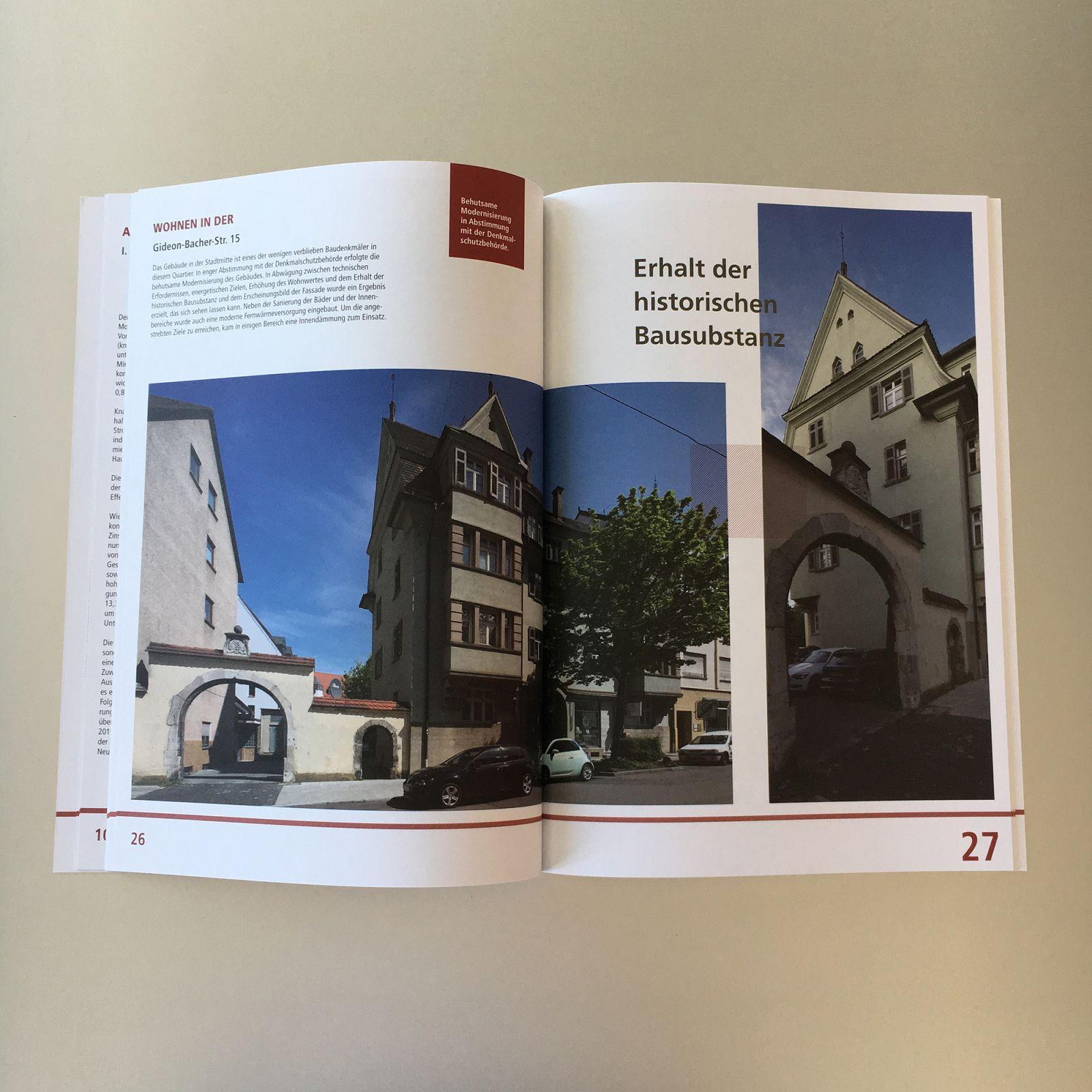 GESCHÄFTSBERICHT - Ulmer Wohnungs- und Siedlungs-Gesellschaft mbH Beispielbild klein
