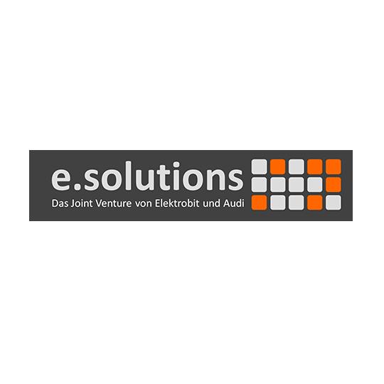 e.solutions GmbH, Ingolstadt: Joint Venture von Audi und Elektrobit. Entwickelt hochkomplexe Infotainmentlösungen für Audi und Marken des VW Konzerns.